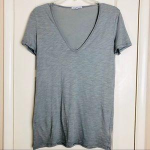 James Perse Grey V neck T-Shirt
